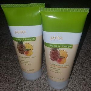 NEW (2) JAFRA mango & pineapple body products, $48